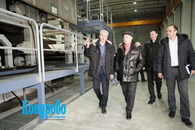 На новом предприятии побывал губернатор Калужской области А.Д.АРТАМОНОВ.